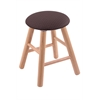 Oak Round Cushion Vanity Stool with Smooth Legs, Natural Finish, Axis Truffle Seat, and 360 Swivel