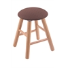 Oak Round Cushion Vanity Stool with Smooth Legs, Natural Finish, Axis Willow Seat, and 360 Swivel