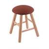 Oak Round Cushion Vanity Stool with Smooth Legs, Natural Finish, Rein Adobe Seat, and 360 Swivel