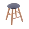 Oak Round Cushion Vanity Stool with Smooth Legs, Natural Finish, Rein Bay Seat, and 360 Swivel