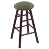 Holland Bar Stool Co. Maple Round Cushion Bar Stool with Smooth Legs, Dark Cherry Finish, Axis Grove Seat, and 360 Swivel