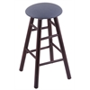 Holland Bar Stool Co. Maple Round Cushion Counter Stool with Smooth Legs, Dark Cherry Finish, Rein Bay Seat, and 360 Swivel