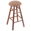 Holland Bar Stool Co. Maple Round Cushion Extra Tall Bar Stool with Smooth Legs, Medium Finish, Allante Beechwood Seat, and 360 Swivel