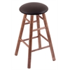 Holland Bar Stool Co. Maple Round Cushion Bar Stool with Smooth Legs, Medium Finish, Allante Espresso Seat, and 360 Swivel