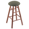 Holland Bar Stool Co. Maple Round Cushion Bar Stool with Smooth Legs, Medium Finish, Axis Grove Seat, and 360 Swivel