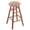 Holland Bar Stool Co. Maple Round Cushion Counter Stool with Smooth Legs, Medium Finish, Axis Summer Seat, and 360 Swivel