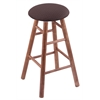 Maple Round Cushion Bar Stool with Smooth Legs, Medium Finish, Axis Truffle Seat, and 360 Swivel