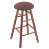 Holland Bar Stool Co. Maple Round Cushion Extra Tall Bar Stool with Smooth Legs, Medium Finish, Axis Willow Seat, and 360 Swivel