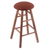 Holland Bar Stool Co. Maple Round Cushion Bar Stool with Smooth Legs, Medium Finish, Rein Adobe Seat, and 360 Swivel