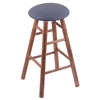 Holland Bar Stool Co. Maple Round Cushion Bar Stool with Smooth Legs, Medium Finish, Rein Bay Seat, and 360 Swivel