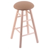 Holland Bar Stool Co. Maple Round Cushion Extra Tall Bar Stool with Smooth Legs, Natural Finish, Allante Beechwood Seat, and 360 Swivel