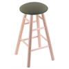 Holland Bar Stool Co. Maple Round Cushion Bar Stool with Smooth Legs, Natural Finish, Axis Grove Seat, and 360 Swivel
