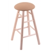 Maple Round Cushion Counter Stool with Smooth Legs, Natural Finish, Axis Summer Seat, and 360 Swivel