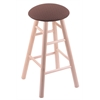 Maple Round Cushion Bar Stool with Smooth Legs, Natural Finish, Axis Willow Seat, and 360 Swivel