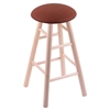 Holland Bar Stool Co. Maple Round Cushion Bar Stool with Smooth Legs, Natural Finish, Rein Adobe Seat, and 360 Swivel