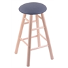Holland Bar Stool Co. Maple Round Cushion Bar Stool with Smooth Legs, Natural Finish, Rein Bay Seat, and 360 Swivel