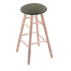 Holland Bar Stool Co. Maple Round Cushion Extra Tall Bar Stool with Turned Legs, Natural Finish, Axis Grove Seat, and 360 Swivel
