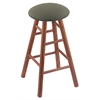 Holland Bar Stool Co. Oak Round Cushion Extra Tall Bar Stool with Smooth Legs, Medium Finish, Axis Grove Seat, and 360 Swivel