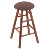 Oak Round Cushion Bar Stool with Smooth Legs, Medium Finish, Axis Willow Seat, and 360 Swivel