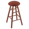 Oak Round Cushion Bar Stool with Smooth Legs, Medium Finish, Rein Adobe Seat, and 360 Swivel