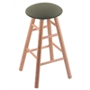 Holland Bar Stool Co. Oak Round Cushion Bar Stool with Smooth Legs, Natural Finish, Axis Grove Seat, and 360 Swivel