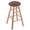 Holland Bar Stool Co. Oak Round Cushion Bar Stool with Smooth Legs, Natural Finish, Axis Willow Seat, and 360 Swivel