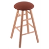 Oak Round Cushion Bar Stool with Smooth Legs, Natural Finish, Rein Adobe Seat, and 360 Swivel