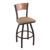 XL 830 Voltaire Swivel Stool with Medium Maple B Back