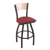 XL 830 Voltaire Swivel Stool with Natural Maple B Back
