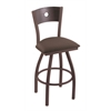 XL 830 Voltaire Swivel Stool with Dark Cherry Oak B Back