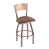 XL 830 Voltaire Swivel Stool with Natural Oak B Back