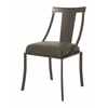 Pastel Furniture Amrita Side Chair, SF PU Gray