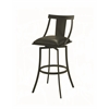 Amrita Swivel Barstool, Black