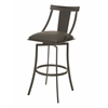 Pastel Furniture Amrita Swivel Barstool, SF PU Gray