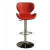 Pastel Furniture Cagliari Hydraulic Barstool, PU Red