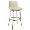 Pastel Furniture Degorah Swivel Barstool, PU Ivory