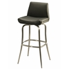 Degorah Swivel Barstool, PU Black