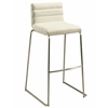 Pastel Furniture Dominica Barstool, PU Ivory