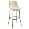 Pastel Furniture Diamond Pearl Swivel Barstool, PU Ivory