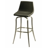Pastel Furniture Diamond Pearl Swivel Barstool, PU Black