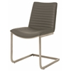 Pastel Furniture Emma Side Chair, PU Gray