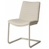 Pastel Furniture Emma Side Chair, PU Ivory