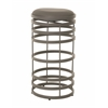Grafton Swivel Barstool, PU Gray