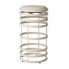 Pastel Furniture Grafton Swivel Barstool, PU Ivory