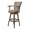 Glenwood Swivel Barstool, Gray
