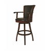 Glenwood Swivel Barstool, Leather Brown