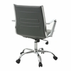 Highbore Office Chair in Chrome and PU Ivory, White