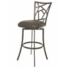 Pastel Furniture Homestead Swivel Barstool, SF PU Gray