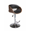 Pastel Furniture Kaffina Hydraulic Barstool, PU Black