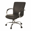 Pastel Furniture Lachman Office Chair, PU Black